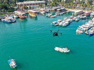 التفتيش بواسطة الطائرات بدون طيار لتنظيف البحر الأبيض المتوسط
