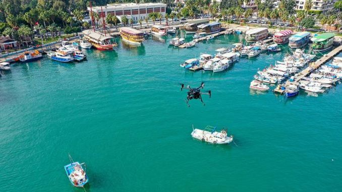 drone inspection for clean Mediterranean