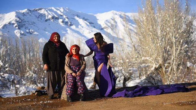 Fashion shoots were made in the Munzur mountains cleared from the terrace in Tuncel.