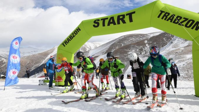 turkey mountain skiing championship was held in Trabzon