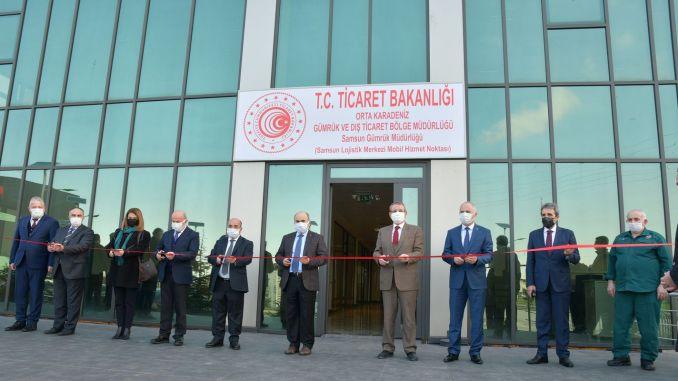 mobile customs point was the first emergency intermodal logistics center turkiyenin
