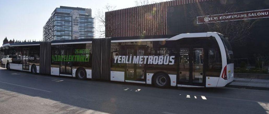 turkiyenin erster inländischer elektrischer metrobus ankarada