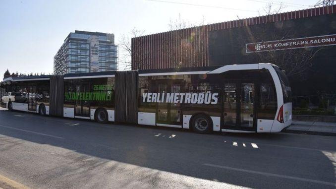 turkiyenin first domestic electric metrobus ankarada