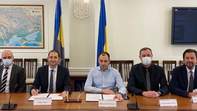 Signatures were signed for the new cream bridge to be built by birth construction in ukraine
