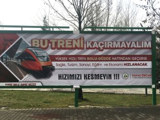 Bolu Mayor Ozcandan Campaign for YHT Let's Not Miss This Train