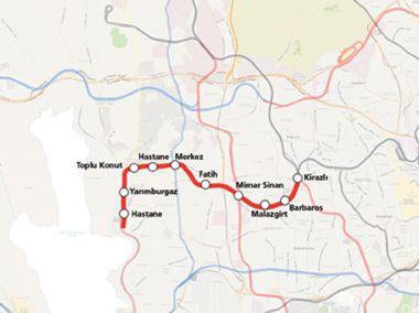 Kirazli Halkali metro