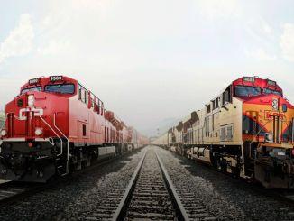milijardų dolerių geležinkelių susijungimas Amerikoje