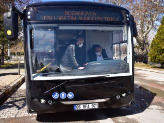 President zeybek tested one hundred percent domestic electric bus