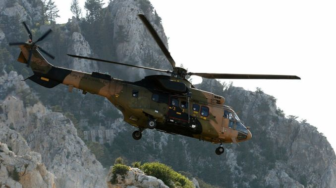 Military helicopter fell down in lice, martyred wounded
