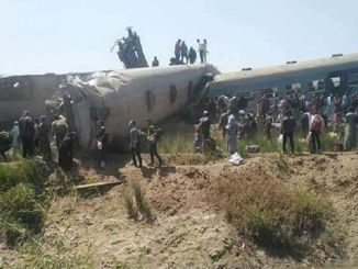 Two train crews were injured in Egypt.