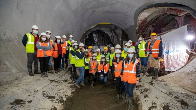 The first tunnel of the Narlidere metro line has been completed