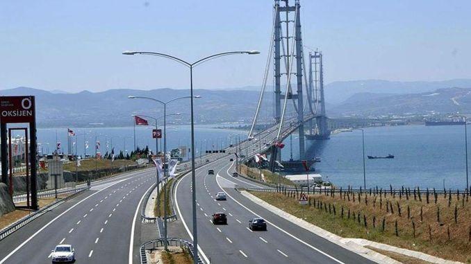 osmangazi bridge vehicle pass guarantee is under the limit