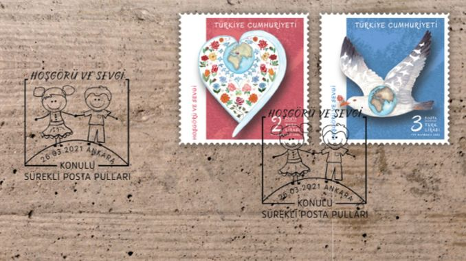 Permanent postage stamps with the theme of tolerance and love from post