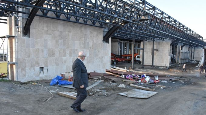 Suleymanpasa bus terminal construction work is coming to an end
