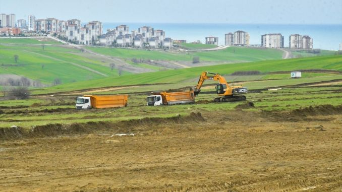 Toybelen industrial site construction work continues at full speed