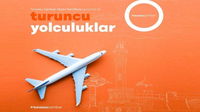 Orange circle hygiene certified flights start from Izmir