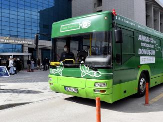 ego bus in Ankara is transformed into electric bus