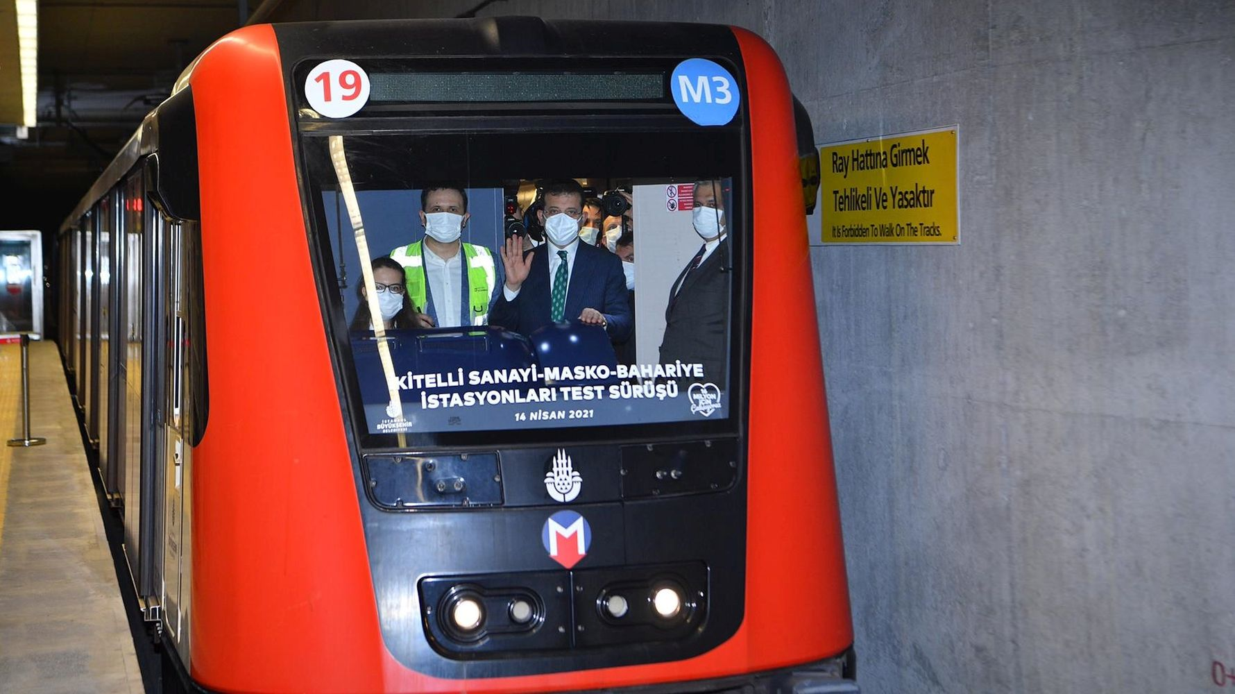 Atakoy ikitelli metro line station is put into service in May