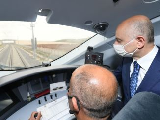 minister karaismailoglu konya karaman attended high speed train test drive