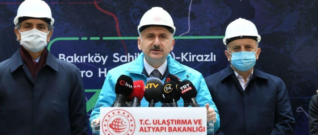 Die Bakirkoy Bahcelievler Cherry Metro Line wird Ende des Jahres eröffnet