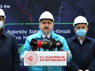 bakirkoy bahcelievler körsbärs tunnelbanelinje öppnar i slutet av året