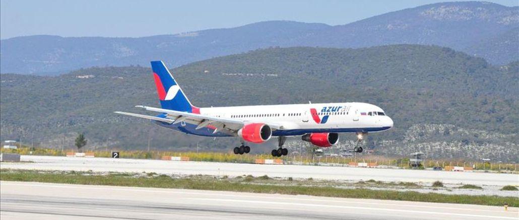 साल के पहले अंतरराष्ट्रीय उड़ान का स्वागत किया bodrum हवाई अड्डे ने