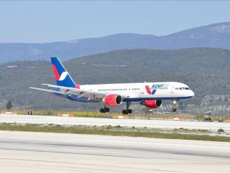 bodrum airport welcomed the first international flight of the year