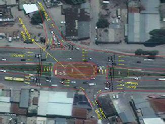 Bursa Besyol交叉路口的交通管制