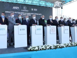 The foundation of the Bursa City Hospital metro line was laid