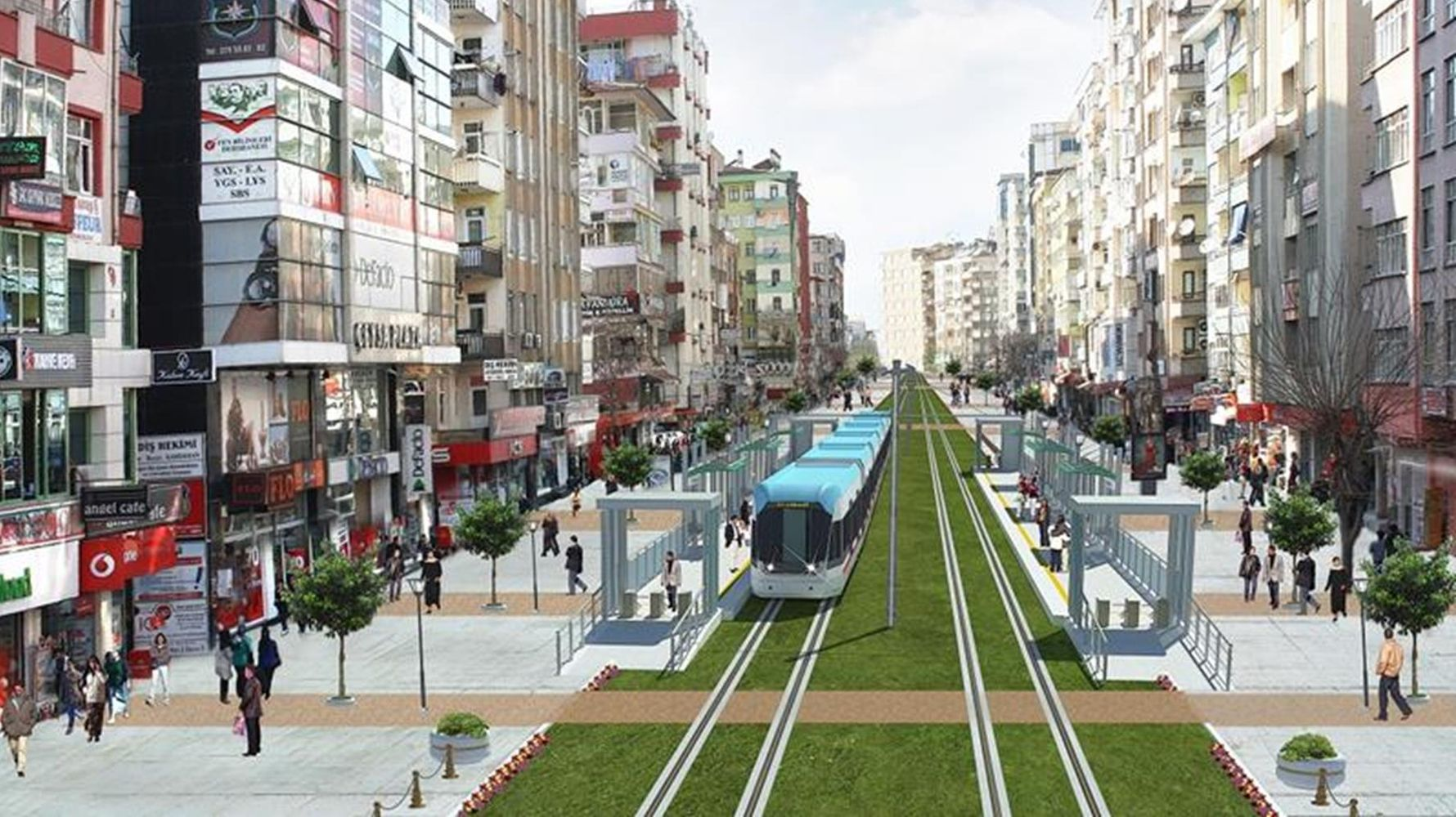 The first stage in diyarbakir light rail system project is complete