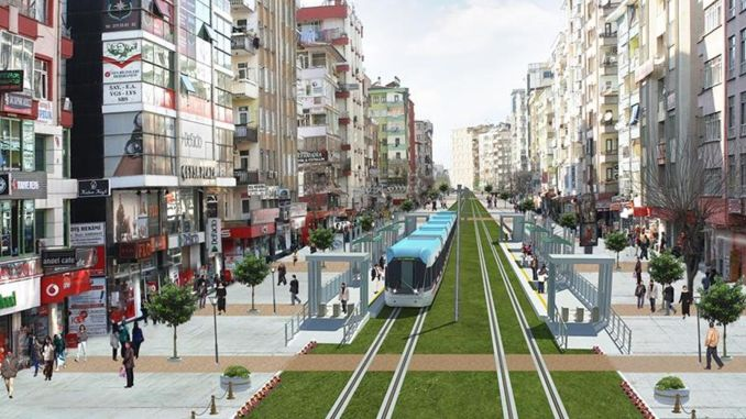 Den første fase i diyarbakir-letbanesystemprojektet er afsluttet