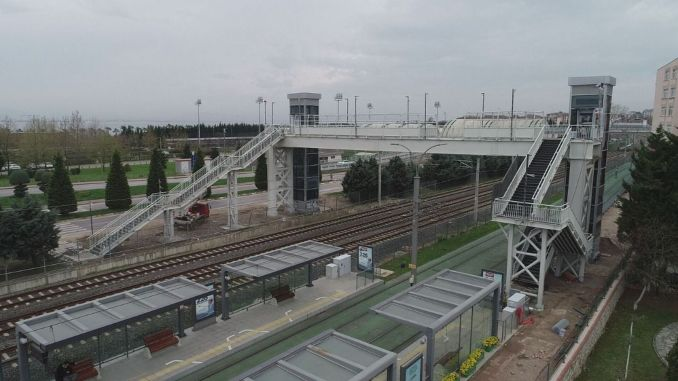 education campus tram stop pedestrian overpass has come to completion phase