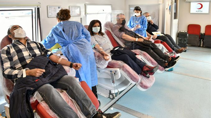 Supports blood donation campaign in ego pandemic process
