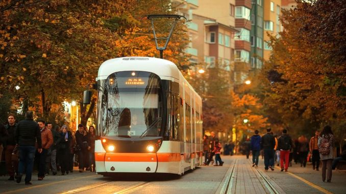 Eskisehir tram and bus services restrictions