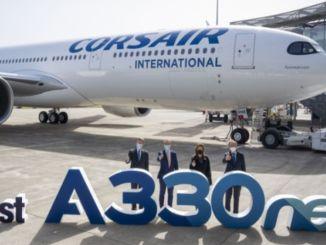 franču aviokompānija corsair piegādā savu pirmo anaeo lidmašīnu