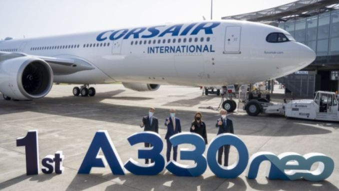 french airline corsair takes delivery of its first anaeo plane