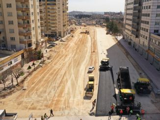 Asphalt work started on the road to gaziantep hospitals zone