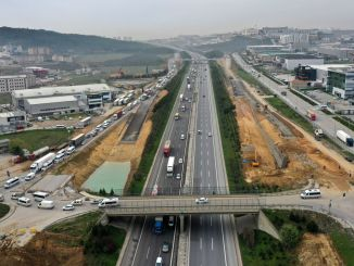 gebze tem highway bridges connection roads works intensified on the north side road