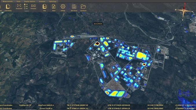 air pollution source will be detected by dimensional software