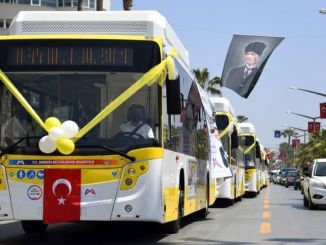 Yellow lemons joined the Mersin public transport fleet passed the test drive