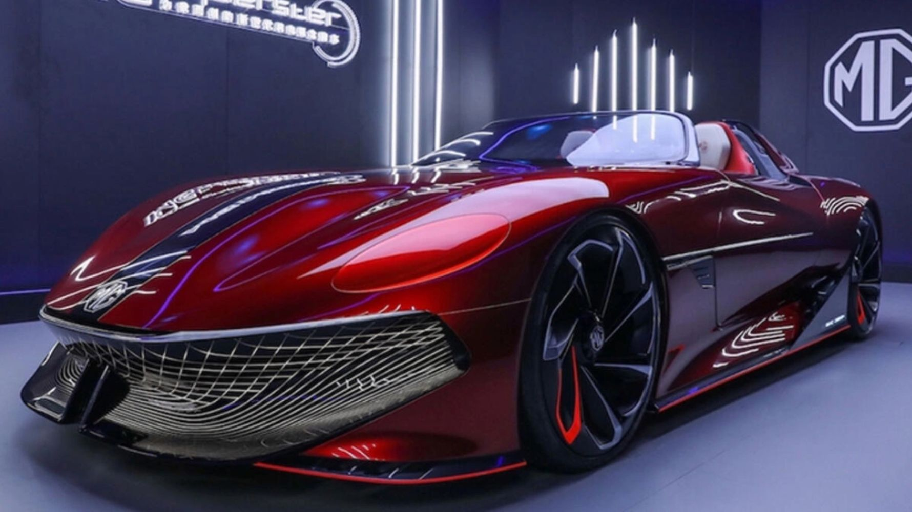 mg cyberster concept car covers kilometers with a single charge