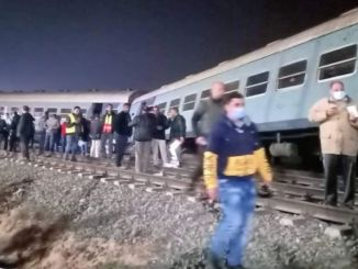 passenger train derailed in Egypt injured