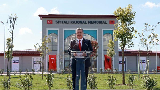 turkiye arnavutluk fier dostluk hastanesi hizmete acildi