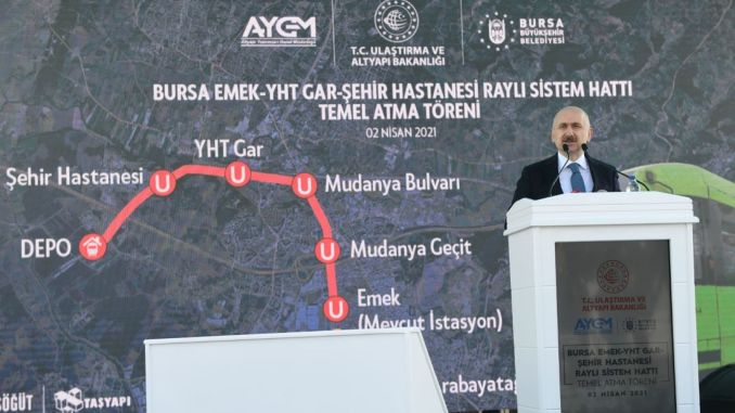 the new metro line will be a comfortable and punctual option for bus access to the bursa yht