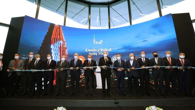 meters high camlica tower opened today