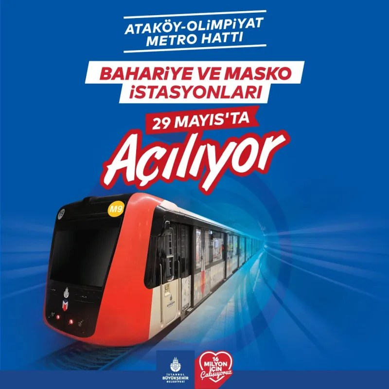 Atakoy olympic metro line station opens in May