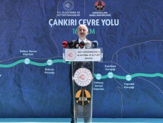 minister karaismailoglu cankiri besøgte motorvejen