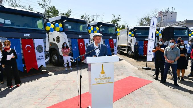 modern cleaning vehicle support to buca municipality