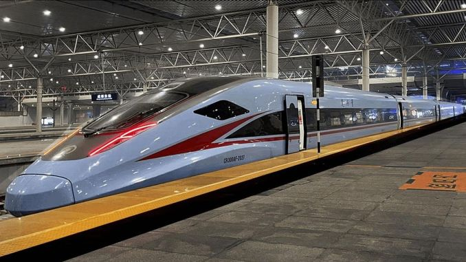 The genie will cross the ocean and make a new high-speed train that will reach the USA.