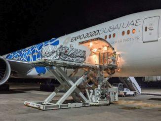エミレーツ航空がインドの人道支援航空橋を発足